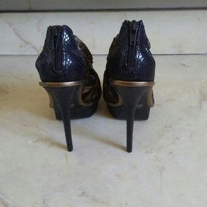 Shoes - Cheetah Print Heels By Wild Pair Size 6.5